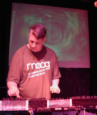 moogulator on stage